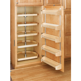 Superieur Lowes Pantry Cabinet With Shop RevAShelf Tier Wood DShape Cabinet Lazy  Susan At Lowes.com