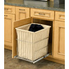 Rev-A-Shelf 1 -Bushel Mixed Materials Clothes Hamper