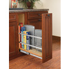 Rev-A-Shelf 5-in W x 22.44-in D x 19.5-in H 1-Tier Wood Pull Out Cabinet Basket