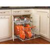 Rev-A-Shelf 20.75-in W x 22-in D x 18.13-in H 1-Tier Metal Pull Out Cabinet Basket