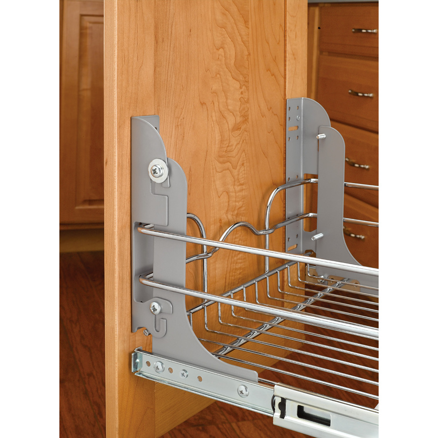 In D X 1 In H 1 Tier Metal Pull Out Cabinet Basket At
