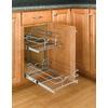 Rev-A-Shelf 8.75-in W x 18-in D x 19-in H 2-Tier Metal Pull Out Cabinet Basket