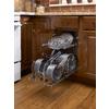 Rev-A-Shelf 11.75-in W x 22-in D x 18.13-in H 2-Tier Metal Pull Out Cabinet Basket