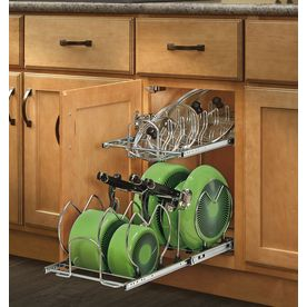 Rev-A-Shelf 11.75-in W x 22-in D x 18.13-in H 2-Tier Metal Pull Out Cabinet Basket