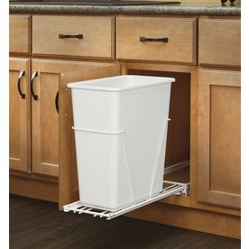 Rev-A-Shelf 30-Quart Plastic Pull Out Trash Can