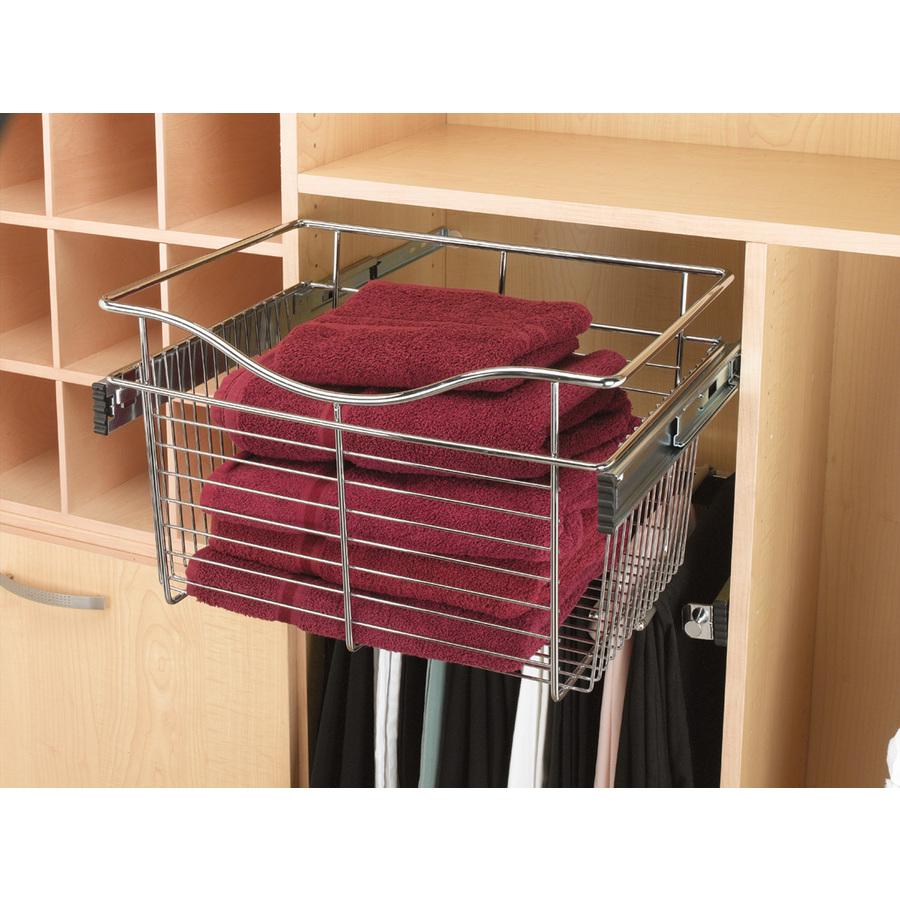 shop rev a shelf 2 piece chrome pull out baskets at. Black Bedroom Furniture Sets. Home Design Ideas
