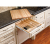 Rev-A-Shelf 22.25-in x 17.5-in Wood Cutlery Insert Drawer Organizer