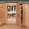 Rev-A-Shelf 2-Tier Wood D-Shape Cabinet Lazy Susan