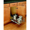 Rev-A-Shelf 11.38-in W x 18-in D x 6-in H 1-Tier Metal Pull Out Cabinet Basket