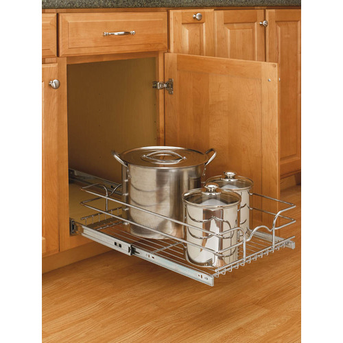 Go Home Black Industrial Kitchen Cart At Lowes Com: Chrome Rev A Shelf Cabinet Organizer From Lowes Storing