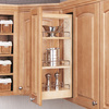 Rev-A-Shelf 5-in W x 10.75-in D x 26.25-in H 1-Tier Wood Pull Out Cabinet Basket