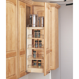 Rev-A-Shelf 8-in W x 10.75-in D x 26.25-in H 1-Tier Wood Pull Out Cabinet Basket