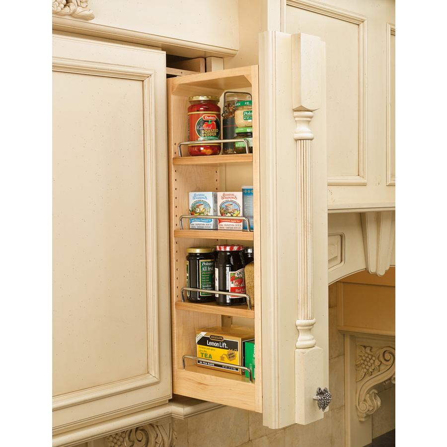shop rev a shelf 6 in w x d x 42 in h 4 tier wood. Black Bedroom Furniture Sets. Home Design Ideas