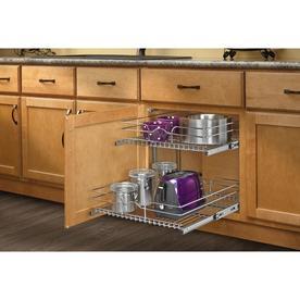 Rev-A-Shelf 20.75-in W x 22-in D x 19-in H 2-Tier Metal Pull Out Cabinet Basket
