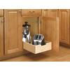 Rev-A-Shelf 14-in W x 22.5-in D x 5.62-in H 1-Tier Wood Pull Out Cabinet Basket