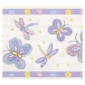 shop brewster wallcovering dragonflies and butterfly
