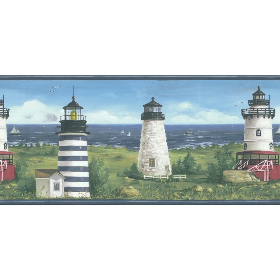 ... wallcovering 10 1 4 lighthouse scenic prepasted wallpaper border