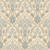 Brewster Wallcovering Blue Strippable Non-Woven Paper Unpasted Classic Wallpaper