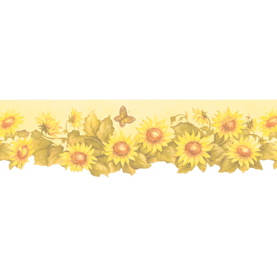 Wallcovering 6  Sunflower Prepasted Wallpaper Border at Lowes com