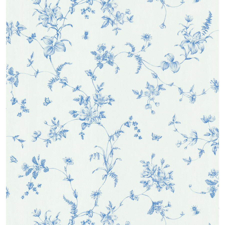 shop brewster wallcovering blue and white floral