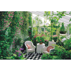 Shop brewster wallcovering comfy greenhouse mural at for Brewster wallcovering wood panels mural
