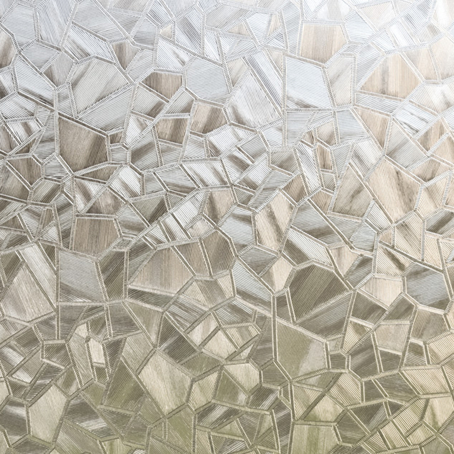 crackled glass privacy decorative adhesive window film at