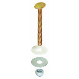 EASTMAN 5 Pair Closet Bolt Set Brass Plated Bolts