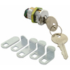 EASTMAN 5 Pack Chrome Mail Box Lock with 5 Cams