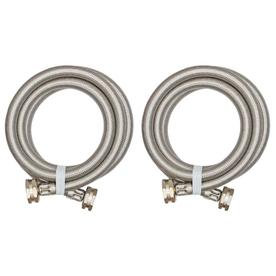 EASTMAN 5-ft 1800 PSI Stainless Steel Washing Machine Connector