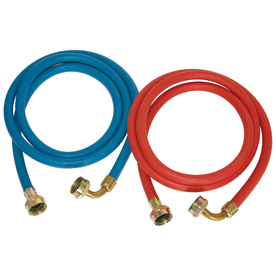 EASTMAN 2-Pack 72-ft 800-PSI Rubber Washing Machine Connectors