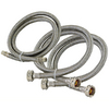 EASTMAN 10-ft 1800 PSI Stainless Steel Washing Machine Connector