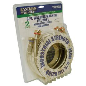 EASTMAN 2-Pack 6-ft 800 Stainless Steel Washing Machine Connectors