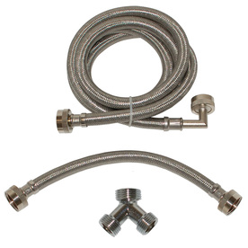 EASTMAN 72 1800-PSI Braided Stainless Steel Washing Machine Connector 98538  sc 1 st  Washer Dryer Machine : braided washer hoses - www.happyfamilyinstitute.com