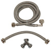 EASTMAN 72-in 1500 PSI Braided Stainless Steel Steam Dryer Installation Kit