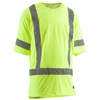 BERNE APPAREL Medium-Long Safety Yellow High Visibility (Ansi Compliant) Enhanced Visibility (Reflective) T-Shirt