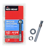 Red Head 25-Pack 1/2-in x 4-1/4-in Wedge Anchors for Solid Concrete