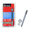 Red Head 25-Pack 1/2-in x 5-1/2-in Wedge Anchors for Solid Concrete