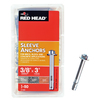 Red Head 50-Pack 3/8-in x 3-in Hex Head Sleeve Anchors