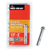 Red Head 25-Pack 1/2-in x 3-in Hex Head Sleeve Anchors
