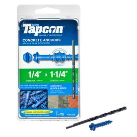 Tapcon 75-Count 1/4-in x 1-1/4-in Concrete Screws