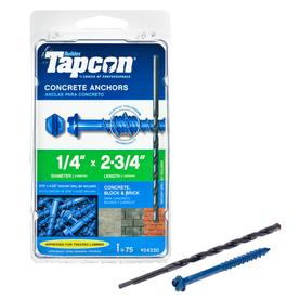 Tapcon 75-Count 1/4-in x 2-3/4-in Concrete Screws