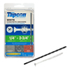 Tapcon 75-Count 1/4-in x 3-3/4-in White Concrete Screws