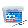 Tapcon 225-Count 3/16-in x 1.25-in Coated Self-Tapping Concrete Screw