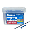 Tapcon 225-Count 3/16-in x 1.75-in Blue Steel Self-Tapping Concrete Screw