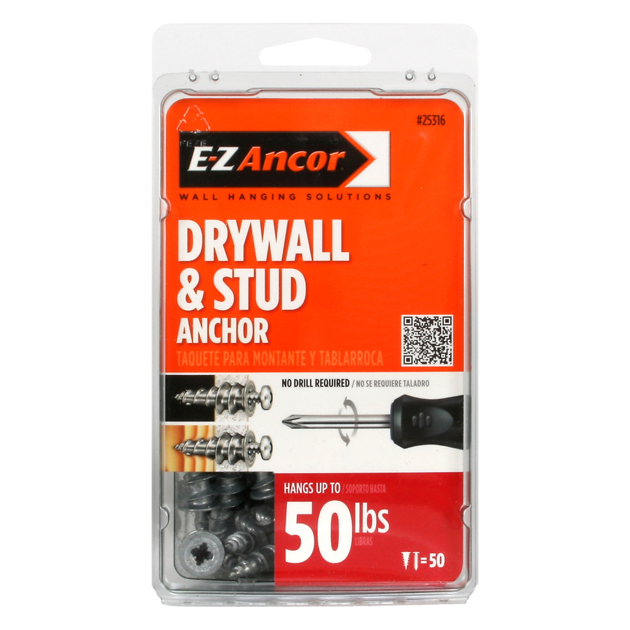 Shop E-Z Ancor 50-Pack Drywall Anchors at Lowes.com