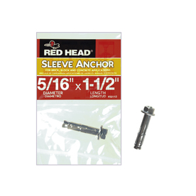 Red Head 5/16-in x 1-1/2-in Hex Head Sleeve Anchor