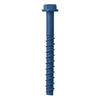 Tapcon 2-Pack 4-in x 0.375-in Blue Steel Heavy-Duty All-Purpose Anchors with Screws