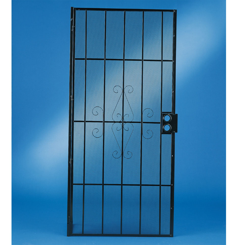Security screen doors metal security screen doors lowes for Metal security doors