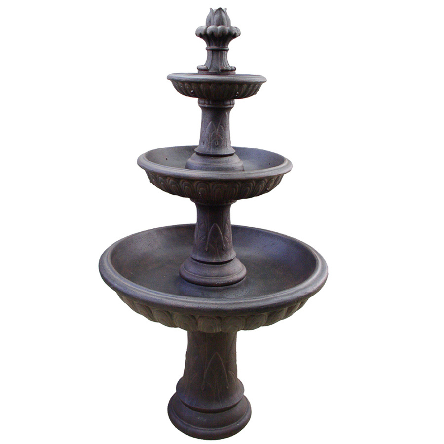 Shop allen roth 61 in fountain at lowescom for Garden fountains lowes