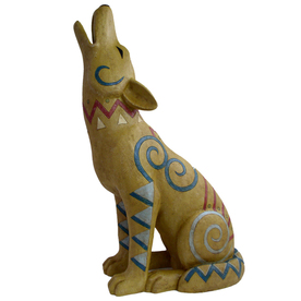 Large Painted Desert Coyote Statue